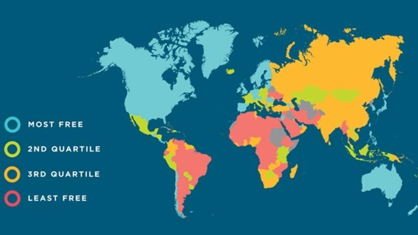 Украина вошла врейтинг стран с меньшей финансовой свободой